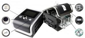 BMC RESMART BPAP GII 25A  БИПАП аппарат с увлажнителем фото 5